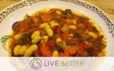 "Hearty Vegetable White Bean ""Schtoup"""